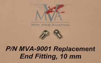 MVA-9001 All Metal End Fitting, Gas Springs, 10mm Ball